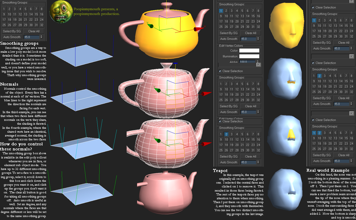 Smoothing Groups Polycount